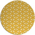 rug #758249 | round yellow circles rug