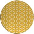 rug #758249 | round yellow rug
