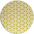 rug #758261 | round yellow circles rug