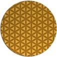 rug #758265 | round light-orange popular rug