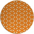 rug #758277 | round orange circles rug