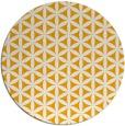 rug #758297 | round light-orange geometry rug