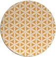 rug #758309 | round light-orange circles rug