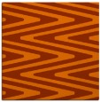 rug #758921 | square red-orange stripes rug