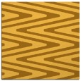 rug #758969 | square yellow stripes rug