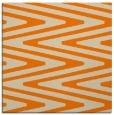 rug #758981 | square orange stripes rug