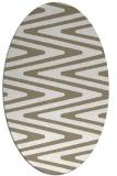 rug #759017 | oval white stripes rug