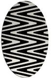 rug #759021 | oval white stripes rug