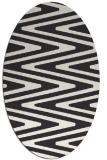 rug #759023 | oval stripes rug