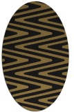 rug #759037 | oval brown stripes rug