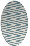 rug #759041 | oval white stripes rug