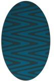 rug #759097 | oval stripes rug