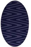 rug #759101 | oval blue-violet stripes rug