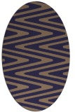 rug #759125 | oval beige stripes rug