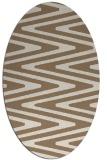 rug #759169 | oval mid-brown stripes rug