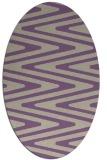 rug #759197 | oval purple rug