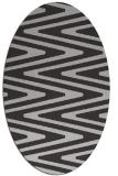 rug #759217 | oval orange stripes rug