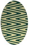 rug #759221 | oval yellow stripes rug