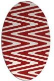 rug #759265 | oval red stripes rug