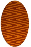 rug #759273 | oval red-orange stripes rug