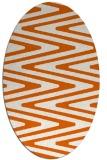 rug #759285 | oval red-orange rug