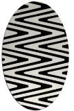 rug #759289 | oval white stripes rug