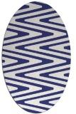 rug #759297 | oval white stripes rug