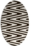 rug #759313 | oval brown stripes rug