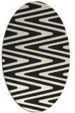 rug #759325 | oval black stripes rug