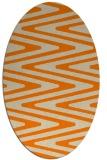 rug #759333 | oval orange stripes rug