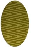 rug #759337 | oval light-green stripes rug