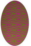 rug #759345 | oval light-green rug