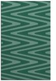 rug #759425 |  blue-green stripes rug