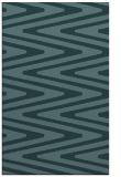 rug #759441 |  blue-green stripes rug