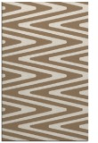 rug #759521    mid-brown stripes rug