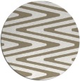 rug #759721 | round white stripes rug