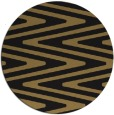 rug #759741 | round mid-brown stripes rug