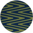 rug #759757 | round green stripes rug