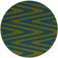 rug #759781 | round blue-green stripes rug