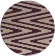 rug #759877 | round pink rug