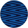 rug #759889 | round blue stripes rug