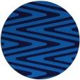 rug #759889 | round blue stripes rug