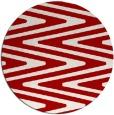 rug #759961 | round red stripes rug