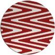 rug #759969   round red stripes rug