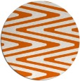 rug #759989 | round red-orange stripes rug