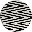 rug #759993   round black stripes rug
