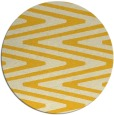 rug #760009   round yellow stripes rug