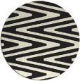 rug #760029   round black stripes rug