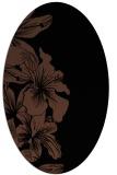 rug #760793 | oval black rug