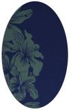 rug #760809   oval blue popular rug